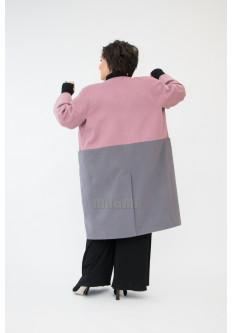 Полупальто -кокон двухцветное