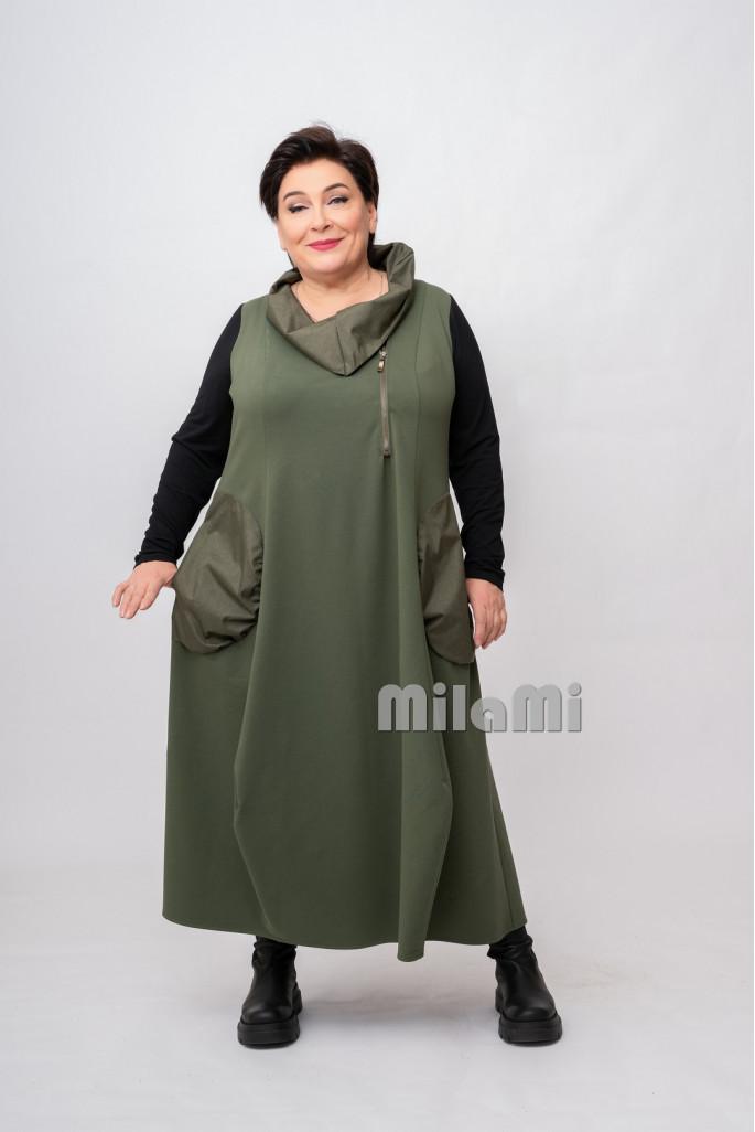 Платье Ольга комбинированное