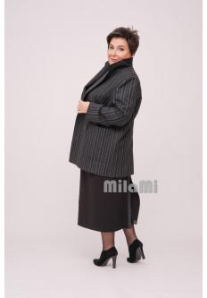 Пиджак прямой двубортный в полоску
