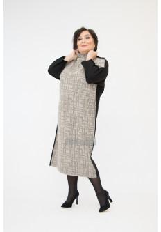 Платье Тэша жаккард с черной вискозой