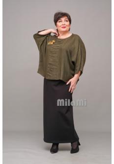 Блуза шелковая Антик из жаккарда