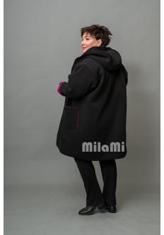 Пальто-кромби с капюшоном