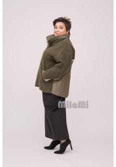 Куртка теплая из экомеха и плащевки