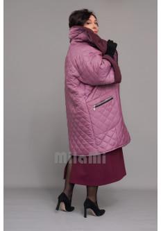 Пальто-кокон стеганое на экомехе