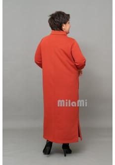 Платье прямое терракотовое