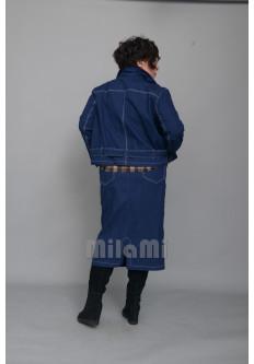 Жакет джинсовый на молнии, синий