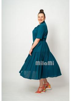 Платье из саксонско-синей марлевки