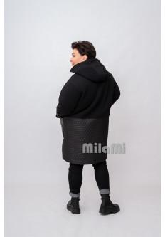 Пальто-кромби футер со стежкой