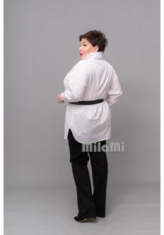 Рубашка с защипами на спинке