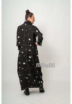 Юбка-бокал  черная Звёзды