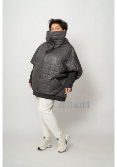 Куртка-кокон стеганая и с трикотажем