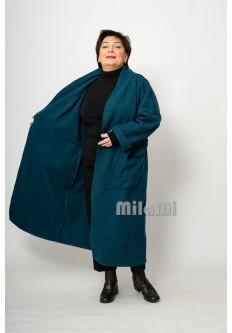 Пальто бохо Синий коралл