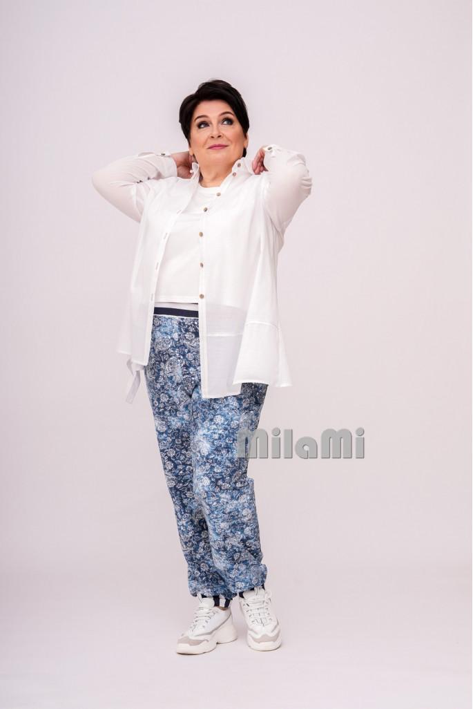 Блуза-рубашка с асимметричными подрезами