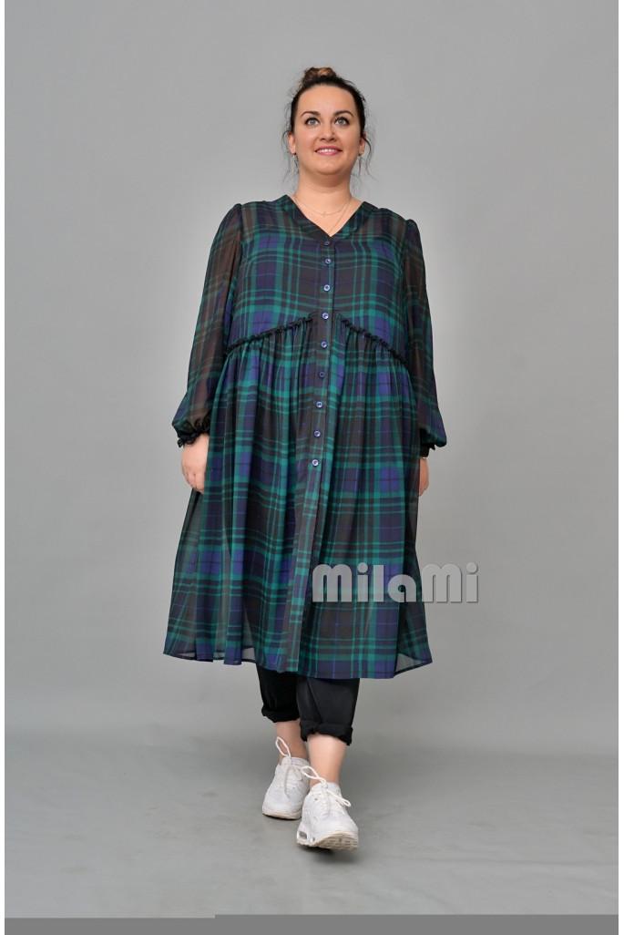 Платье-рубашка шифоновая