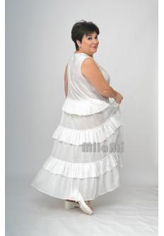 Платье ярусное из креш батиста