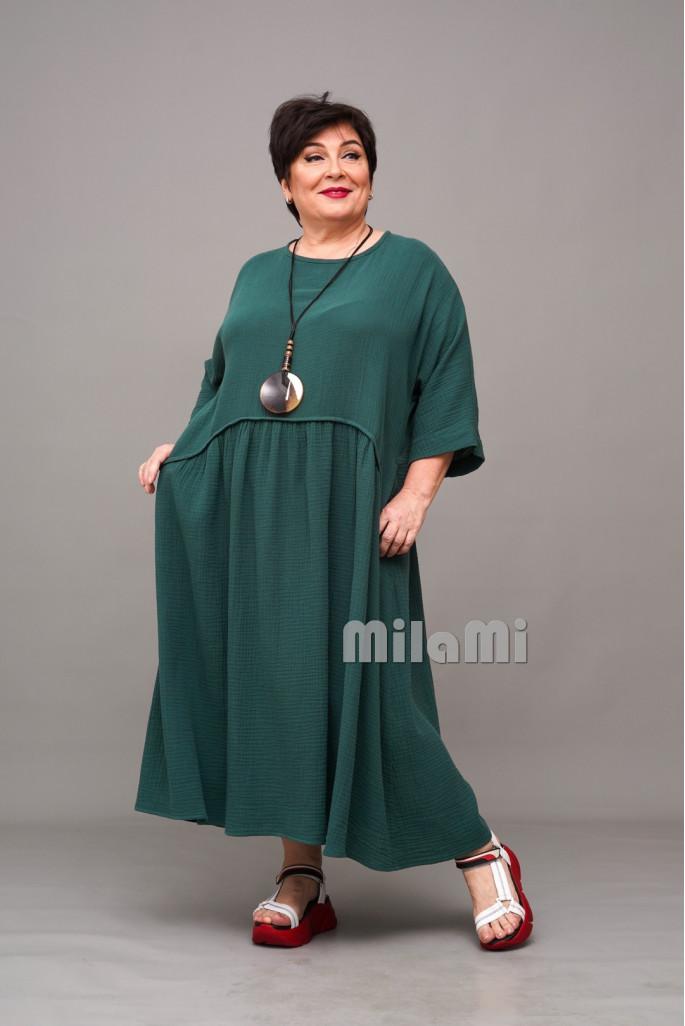Платье бохо из муслина