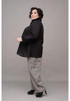 Блуза-рубашка асимметричная батистовая