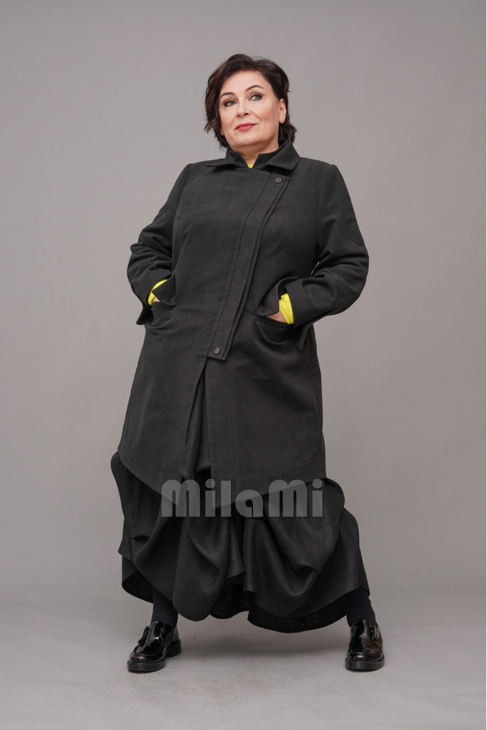 Пальто-сюртук casual велюровый