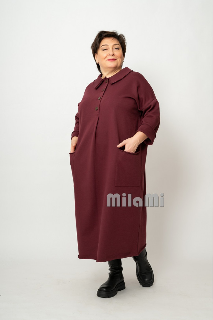 Платье Фанни вишневое