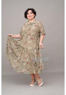 Платье Кантри с юбкой спираль шифоновое
