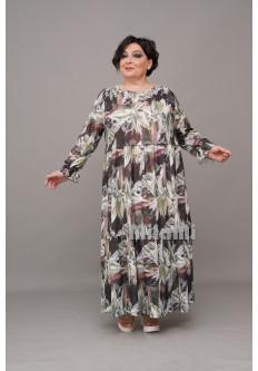 Платье ярусное деворе цветное