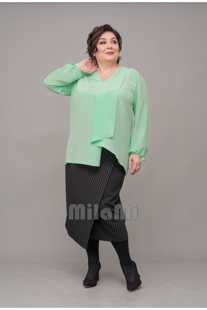 Блуза Шёлковый лайм