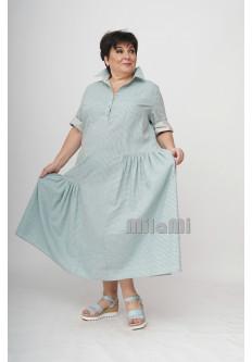 Платье-рубашка с подрезами